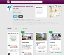 Palmetto Proactive PokitDok Provider Page